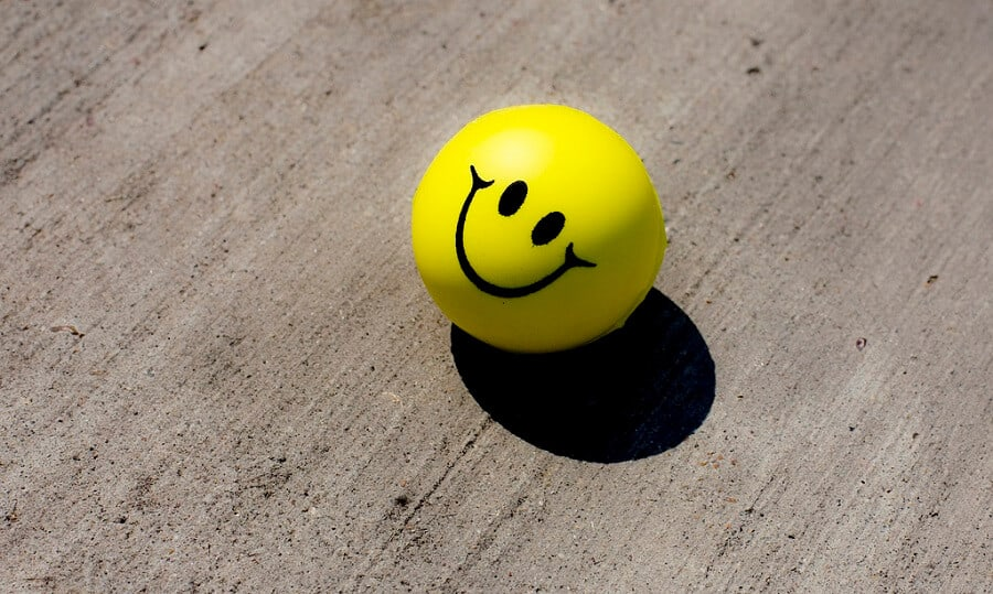 stress ball in the shape of a smiley face